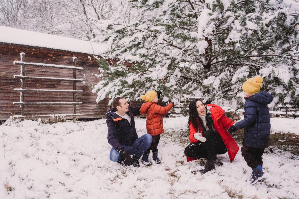 rodzinna sesja zimowa w Szczecinie